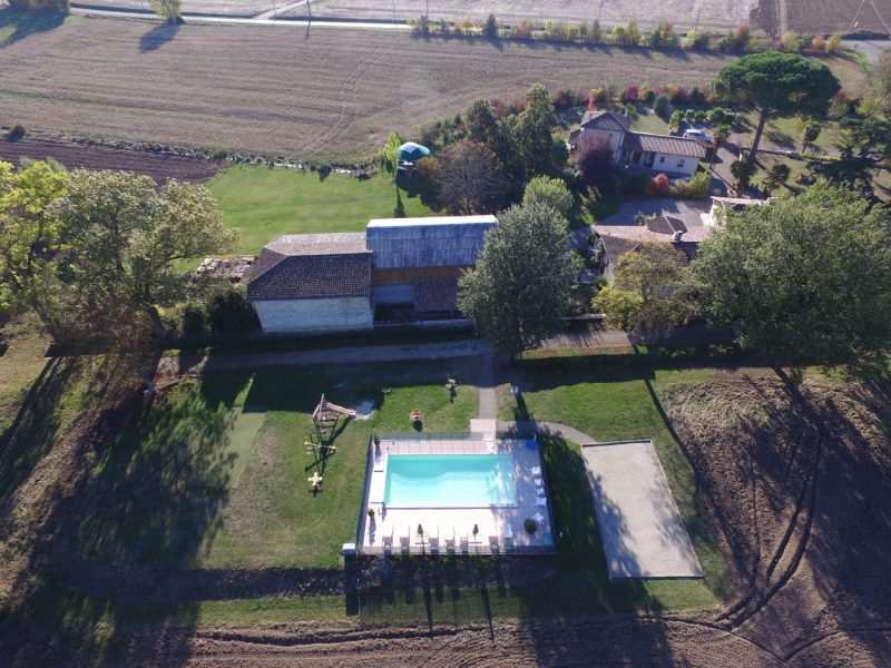 Vue aérienne du Domaine du Gite du Jardin d