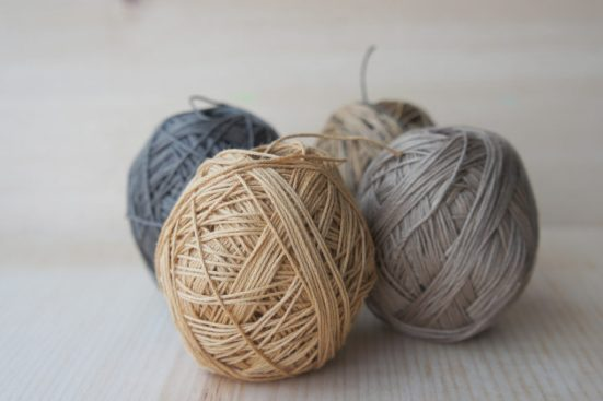 Persimmon Kakishibu Dye Sashiko Thread bobbin thread