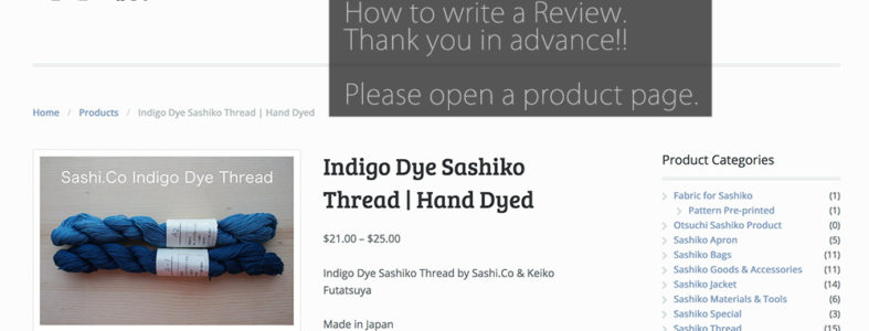 Review to Sashiko Cover