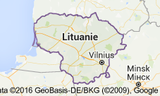 carte lithuanie