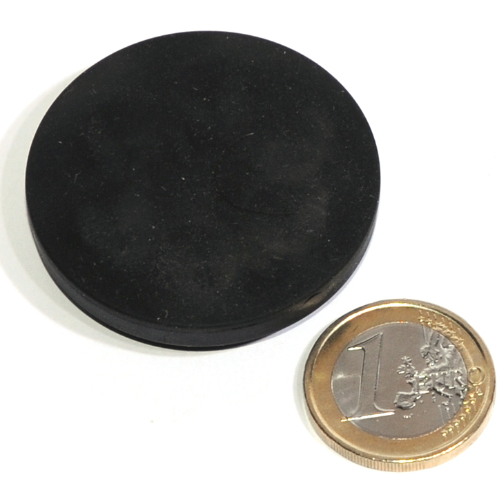 slipresistant rubber coated round base magnet with