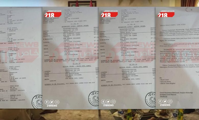 Photo of 218News reveals confidential correspondence aimed at securing Turkish delegation during the visit to Libya