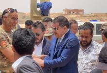 Photo of Libyan PM arrives at Buirat Al-Hassoun area to reopen coastal road