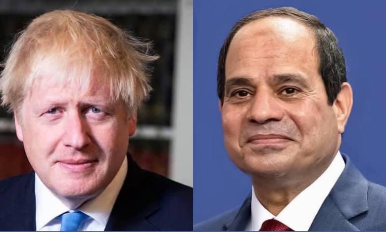 Photo of El-Sisi, Boris Johnson discuss situation in Libya