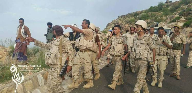 The National Army Controls Al-Solo District West of Taiz