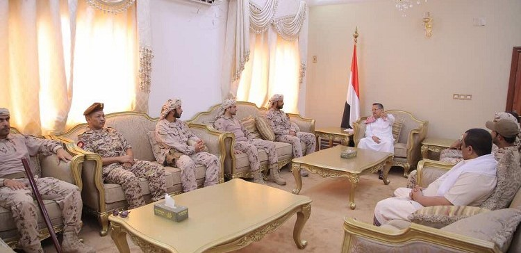 Aden..Prime Minister receives Arab Coalition commanders