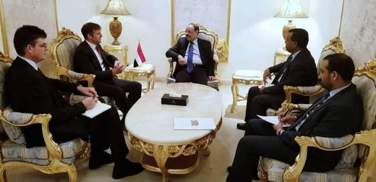 VP presents Yemen's endurance under the militias to UK ambassador