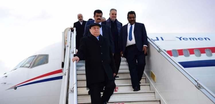 President Hadi arrives Turkey