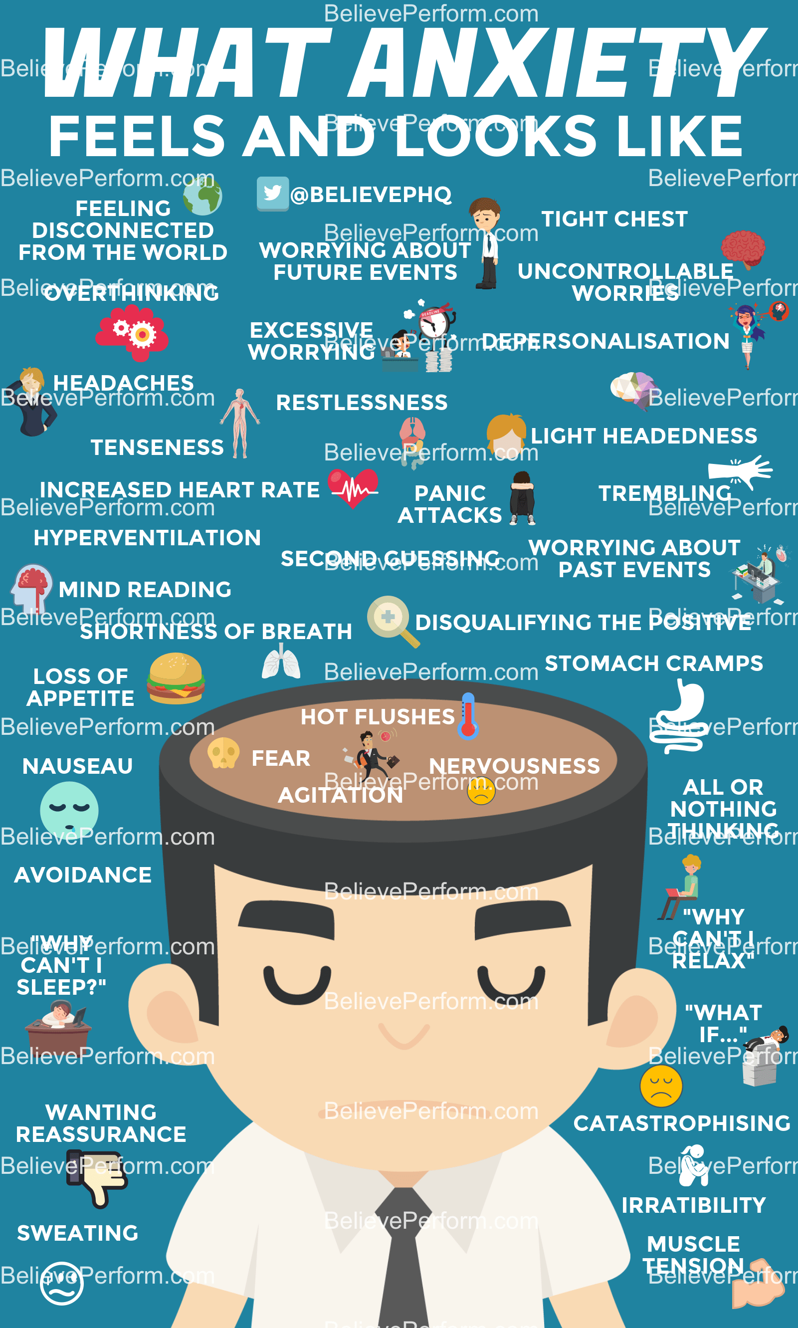 21 Infographics about Anxiety and How to Get Rid of this ...