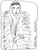 Sofonisba-Anguissola_ femme en fourrure dessin