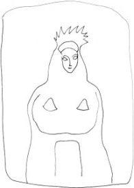 reine-antique-seins-nusantique-queen-dessin