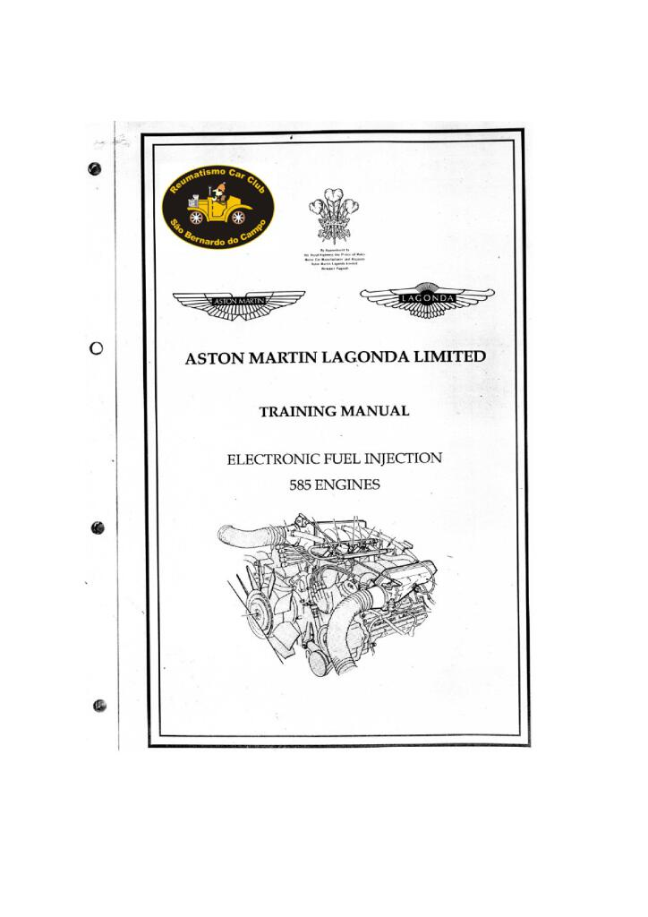 aston martin lagonda training manual eletronic fuel