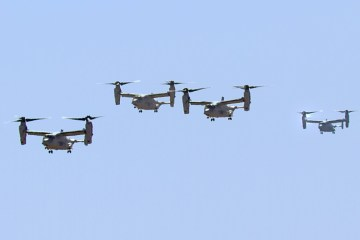 USMC MV-22 Ospreys in Gran Canaria
