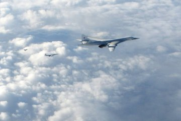 Russian Aerospace Forces TU-160 strategic bombers