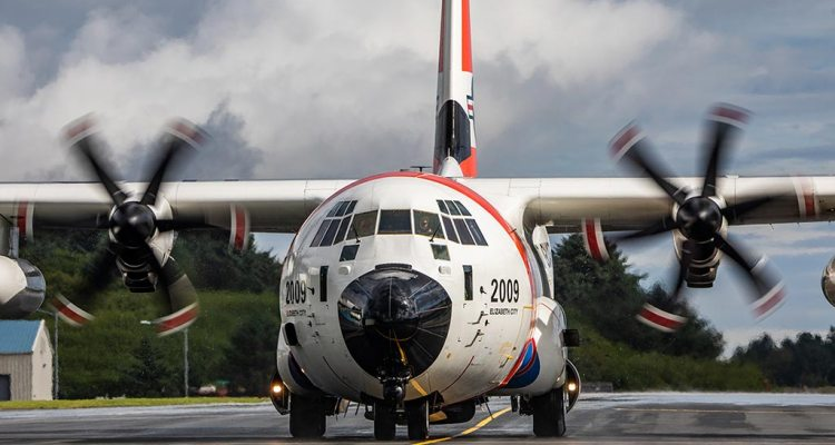 US Coast Guard first HC-130J Super Hercules