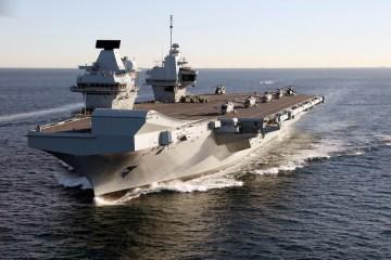 HMS Queen Elizabeth Deploying