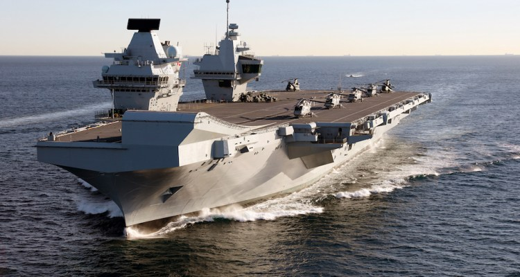 HMS Queen Elizabeth Deploying
