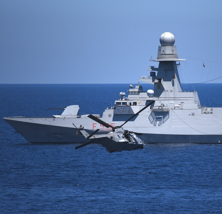 Italian Navy SH-90 helicopter
