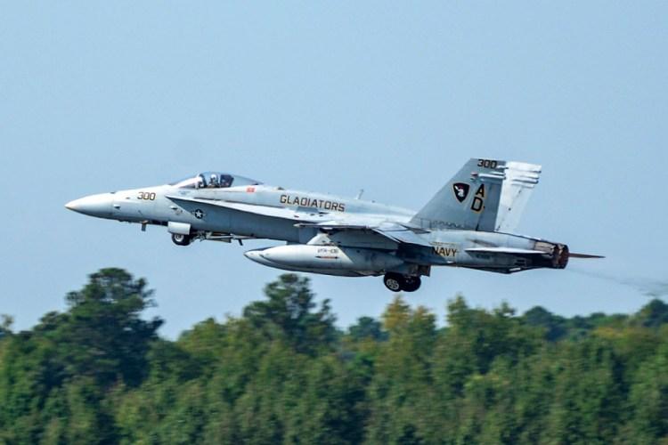 US Navy F-18C Hornet last flight