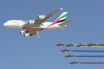 Al Fursan_team with Airbus A380