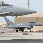 RAF Eurofighter in Qatar