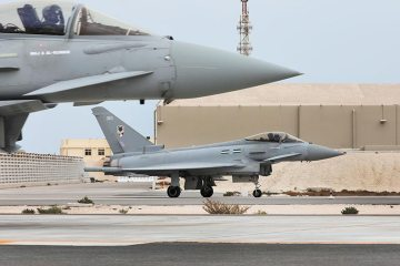 RAF Eurofighter in Qatar