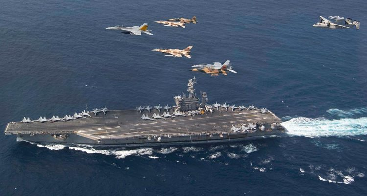 USS Eisenhower with US and Morocco military aircraft