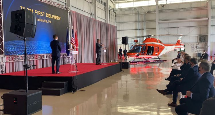 first Leonardo helicopter TH-73A for US Navy