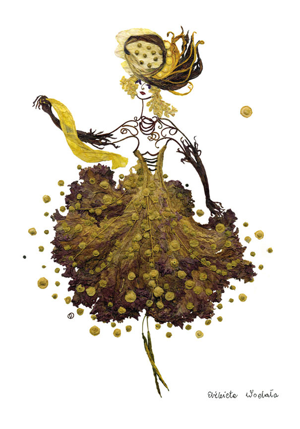 Dried floral art