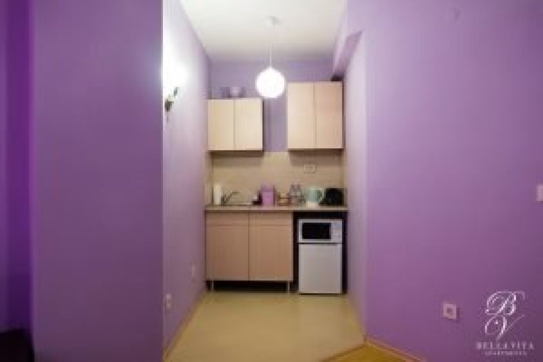 Fully Equipped Kitchenette with Kettle and Minibar in Apartment in Blagoevgrad Bulgaria