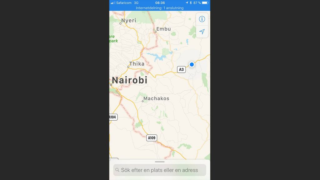 The picture above was taken on the way back to Nairobi