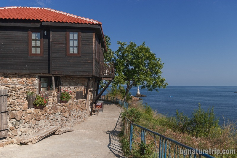 The renovated old wooden house near Ahtopol lighthouse