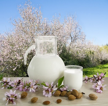 Almond milk against osteoporosis, obesity, skin problems, etc..