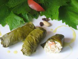 Recipes with grape leaves