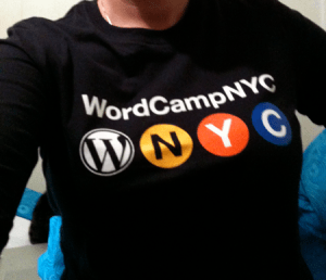 WordCampNYC shirt