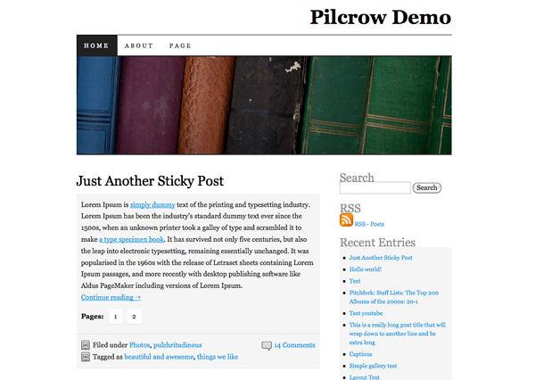 New Theme: Pilcrow