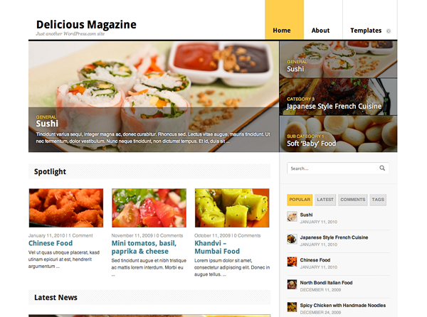 New Theme: Delicious Magazine