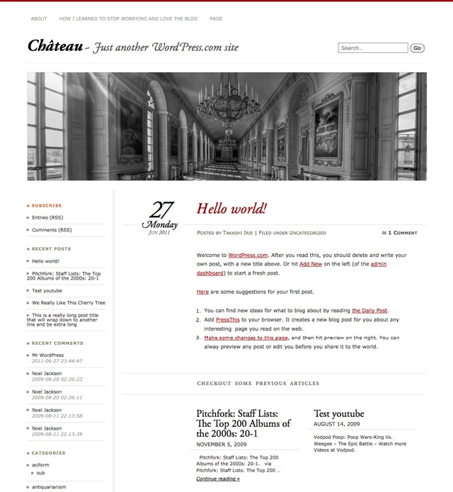 New Theme: Château