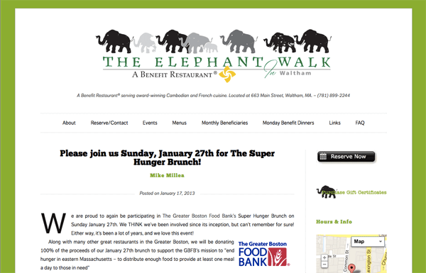 The Elephant Walk, Waltham, MA