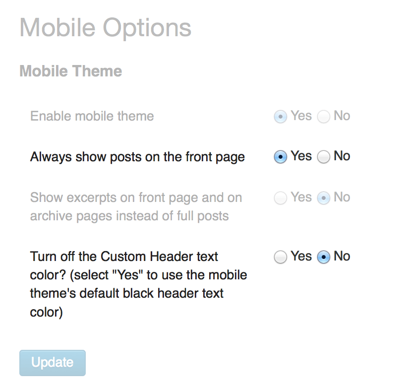 New mobile options