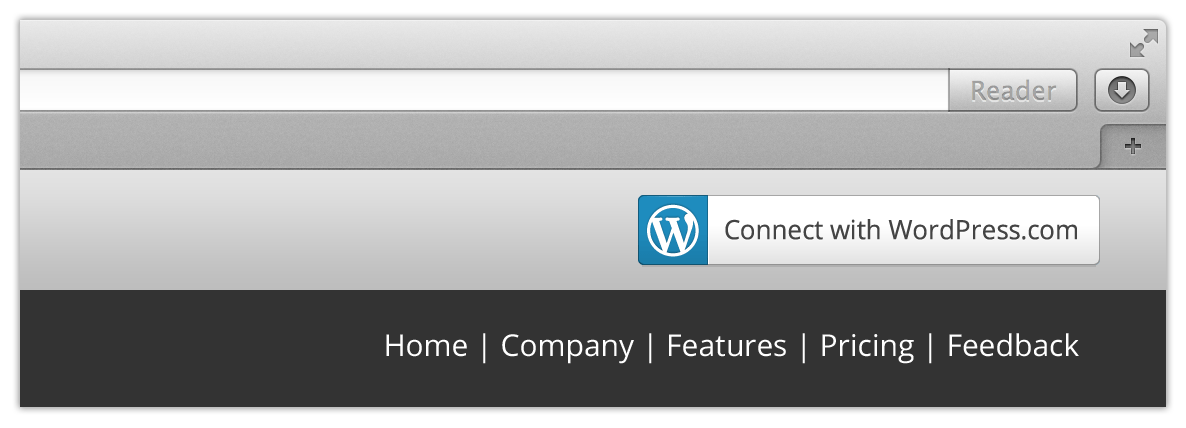 WordPress.com Connect の例