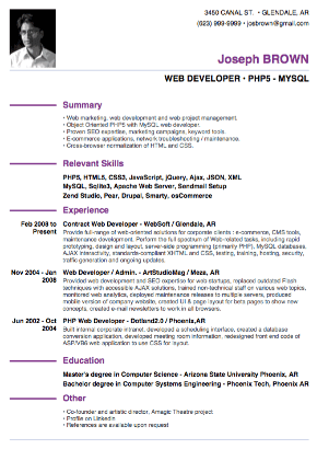 example or resume - Resume Template Example