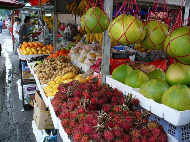Tropical fruits stand