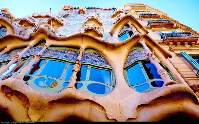 One of Gaudi's architecture, Casa Batllo
