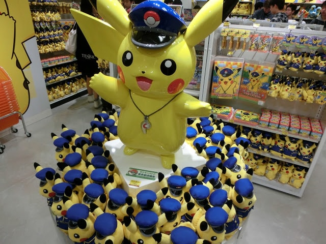 Pikachu decked in police costume