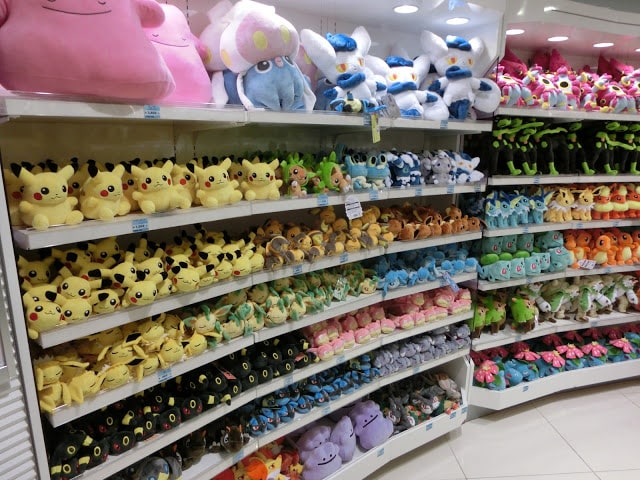 More plushies of the different Pokémon