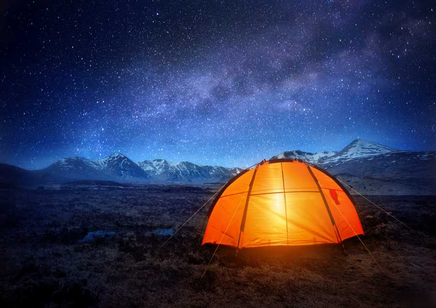 Camp out under the stars! (image viaShutterstock)