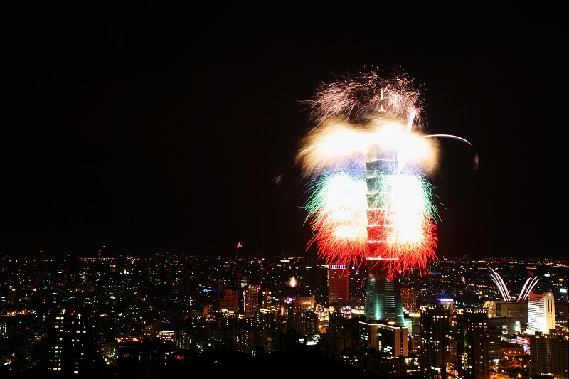 Romantic New Year's Eve Vacation Ideas for Couples: Taipei 101 Fireworks