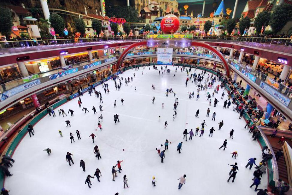 Korea: Lotte World Ice Skating Rink