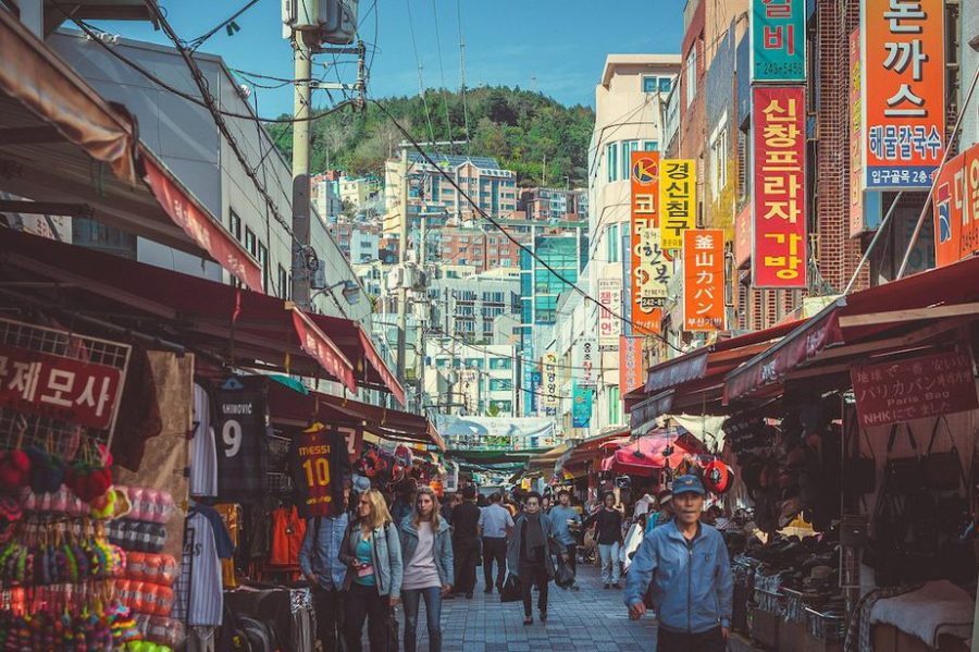 Busan, Korea: Gukje Market in the Nampo-dong District